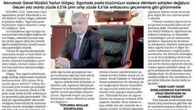Photo of Cepkask Genel Müdürü Sigortada Malesef Pasta Büyümüyor Dilimlerin Sahipleri Değişiyor